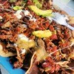 Nachos con carne, viajar barato a Cancún