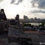 Vista desde el Fuerte de San Felipe en Cartagena de Indias