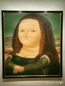 Cuadro de la mona Lisa de Botero